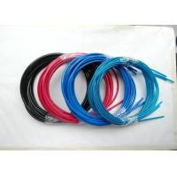 Colorful Wire Rope Assembly , Wire Rope And Fittings Black /  Red / Blue Vinyl / PVC / PU / PA for sale