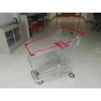 Wholesale European Steel 100L Low Tray Supermarket Shopping Trolley With Blue Baby Seat from china suppliers