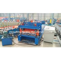 Wholesale Cold Rolled Panel Roofing Sheet Roll Forming Machine With Adjustable Feeding Table from china suppliers