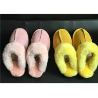 Wholesale Ladies Australian sheepskin lined slipper mules 100% sheepskin shearling lining from china suppliers