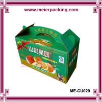 Wholesale custom printing foldable corrugated carton box apple fruit packing box wholesale ME-CU029 from china suppliers