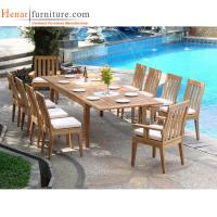 Wholesale Teak Wood Outdoor Restaurant Tables And Chairs With Soft Seat Cushion from china suppliers