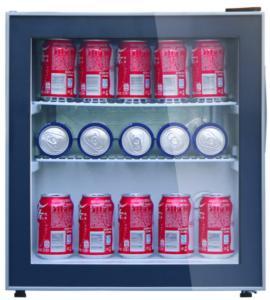 China 48L Low Noise Mini Display Fridge / Glass Door Refrigerator Beverage Cooler on sale
