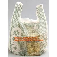 Wholesale HDPE 100% virgin material transparent, t-shirt bags on roll, plastic t-shirt bags vest bag from china suppliers