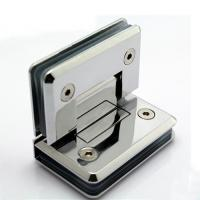 Chrome plated brass shower door hinge