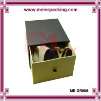 Wholesale slider open gift shoe paper packing box with black matte surface ME-DR006 from china suppliers