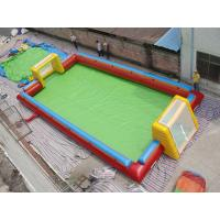 Wholesale Exciting Water Inflatable Soccer Field , Football Inflatable Soap Court for Kids from china suppliers