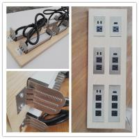 Wholesale Multifunctional Furniture Power Outlet , Universal AC Desktop Electrical Outlet With USB Port from china suppliers