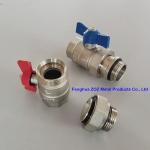 China Underfloor Manifold Ball Valve Set , Isolation Valves for Radiant Heat Manifold for sale