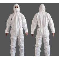 Wholesale Non Sterile Non Woven Isolation Gown , White Breathable Disposable Coveralls from china suppliers