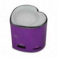 Wholesale Stereo Mini Speakers, Made of Aluminum Alloy with FM Function and 5V DC Power Input Socket from china suppliers