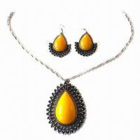 Wholesale Fashion Necklace Set, Decorated with Resin  from china suppliers