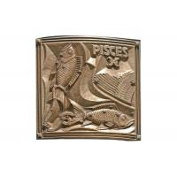 Wholesale Different Sizes Pisces Bronze Relief Plaque Welding Craft 200*200cm from china suppliers