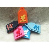 SGS Personalized Promotional Gifts / Multi - Colored Embossed Or Debossed Silicon PVC Keychain for sale