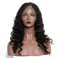 150 Density Braided Full Lace Human Hair Wigs Brazilian Deep Wave for sale