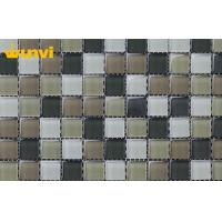 Wholesale Non - toxic Swimming Pool Mosaic Tiles , White and Grey Glass Mosaic Pool Tile from china suppliers