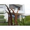 Buy cheap Residential Garden Landscape Reed Design Corten Steel Sculpture from wholesalers