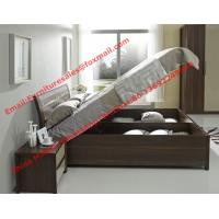 Wholesale Lift mechanism storage bed in classic wooden bedroom furniture from china suppliers