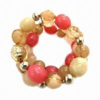 Wholesale Handmade Beaded Bracelet with Acrylic Stones from china suppliers