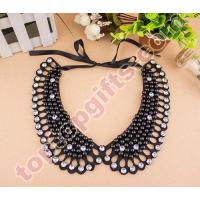 Wholesale pearl collar necklace rhinestone beaded neckline from china suppliers