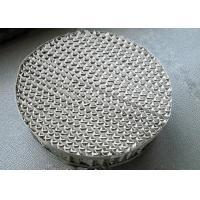 China 250Y Type Metal Structured Packing Perforated Plate Uniform Distribution Gas And Liquid on sale
