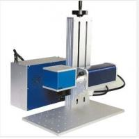 China 8000 mm / S Small Portable Laser Marking Machine For Stainless Steel Plate for sale