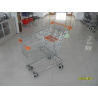 Wholesale Low Carbon Metal Shopping Cart 100 L With 4 Swivel 4 Inch Autowalk Casters from china suppliers