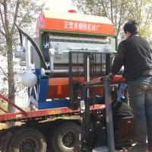 China egg tray making machine/egg tray production line with brick kiln dryer on sale