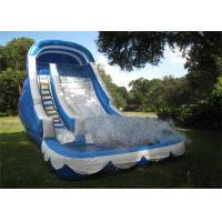 Wholesale Cool Inflatable Adult Water Slide / Blue Backyard Inflatable Wet Slide from china suppliers