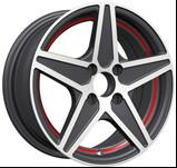 Wholesale KIN-266 Aluminum 14 Inch Alloy Wheels with Red Machine Cut Lip for Cars from china suppliers