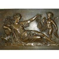Wholesale Mother With Angel Wall Art Bronze Relief Casting Surface Finish WS-C485 from china suppliers