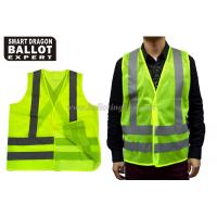 Quality Custom Reflective Safety Vest Clothing Yellow Green Safety Vest With Car Reflective Tape for sale