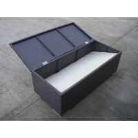 Wholesale All Weather Resin Wicker Storage Box For Outdoor Garden / Patio from china suppliers