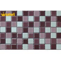Wholesale Stadium Graceful Coloured Seashell Glass Mosaic Tiles With 8mm Thickness from china suppliers