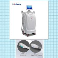 Wholesale model number SH-1 vertical model two handles super hair removal machine ipl+rf laser machine from china suppliers