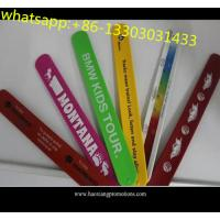 China High quality kids gifts CMYK colorful printed silicone slap wristband with cheap price for sale