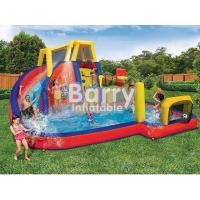 Wholesale Mobile Attraction Inflatable Water Park Equipment , Splash Water Park For Little Kids from china suppliers