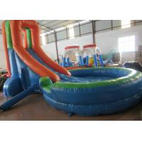 Simplest inflatable water slide inflatable short slide with pool for children outdoor water slide for sale