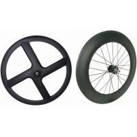 Wholesale Black Carbon Tubular Track Wheels , 8 Bars 4 Spoke Track Cycling Wheels  from china suppliers