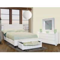 Wholesale Cheap Bedroom Furniture for Apartment, Leather Bed from china suppliers