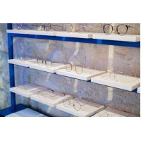 Quality Eyeglass display cabinets in Oak wood racks with mirror and Metal tube display for sale