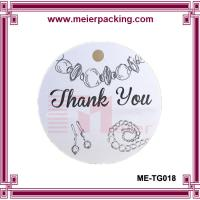 Wholesale Round Shape Paper Jewelry Hang tag/Garment Clothing Tag/Thank You Gift Paper Tag  ME-TG018 from china suppliers