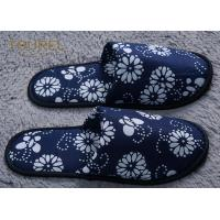 Anti Bacterial And Non Slip Disposable Hotel Slippers Linen Peep Toe