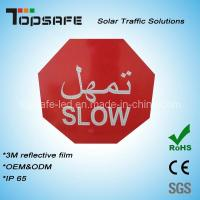 Wholesale Aliminum Flashing Solar LED Traffic Slow Sign (TPST-S7) from china suppliers