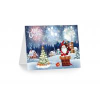 Wholesale 3D 12x17cm Greeting Card Lenticular Printing Services  With Customized X-mas Images from china suppliers