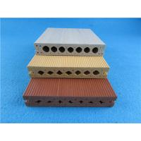 China Hollow Friendly WPC Composite Decking Groove Environmentally WPC Decking on sale
