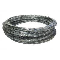Zinc plated razor barbed wire coil sun resistant mm