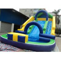 Wholesale 0.55mm PVC Inflatable Adult Pool Slides For Amusement Park , Inflatable Water Park from china suppliers
