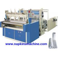 Wholesale Horizontal Jumbo Roll Toilet Paper Roll Making Machine , Electric / Pneumatic Control from china suppliers