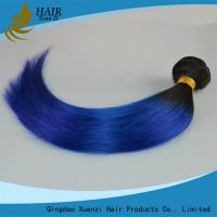 Wholesale Light Blue 14 Inch Length Ladys Hair Extensions 100% Virgin Human Hair Straight from china suppliers